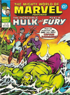 Mighty World of Marvel #293, Hulk vs Captain Barracuda