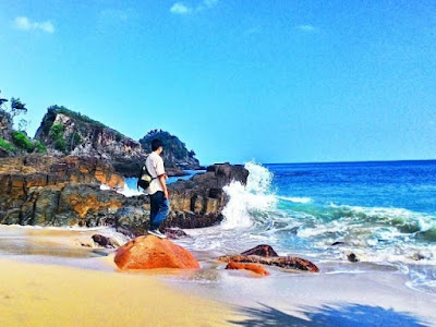 pantai marina, wisata batam pantai marina, pantai di batam paling indah