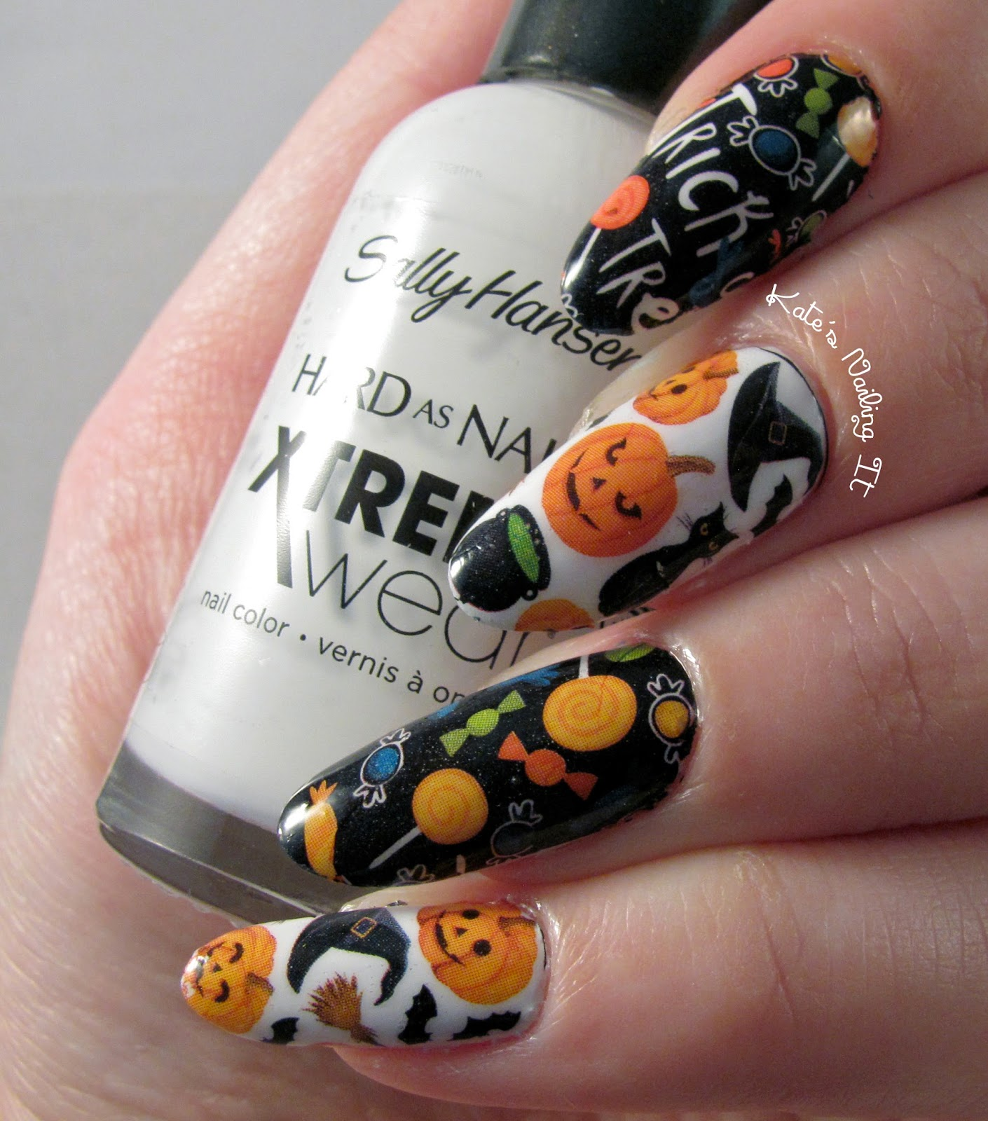 Kate\'s Nailing It: Halloween costume nails