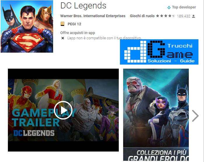 Trucchi  DC Legends Mod Apk Android v1.9.1
