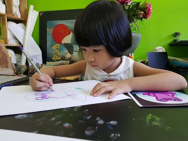 Ngọc Ngân (4 tuổi) Học viên trung tâm mỹ thuật Nét Ngộ