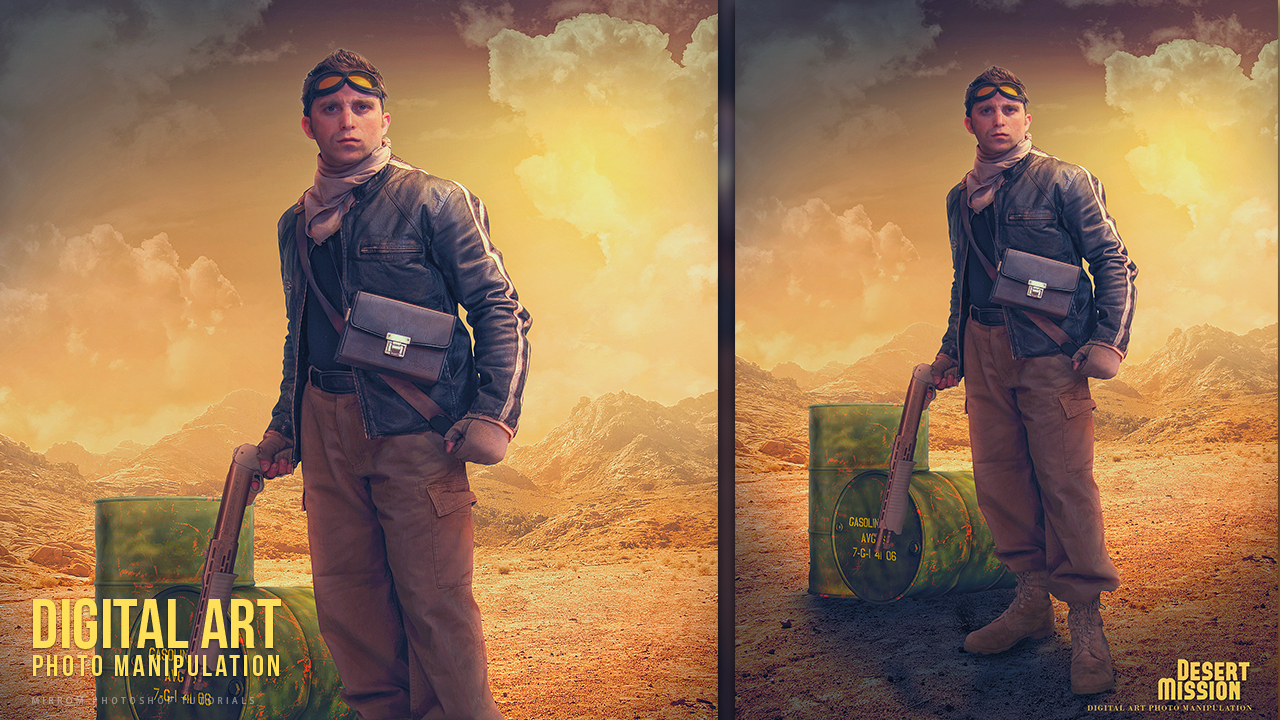 Desert Mission Photo Manipulation Effect Photoshop Tutorial