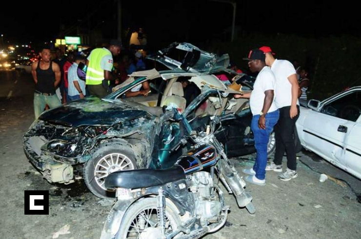 Muertes por accidentes se incrementaron 50.9% en República Dominicana