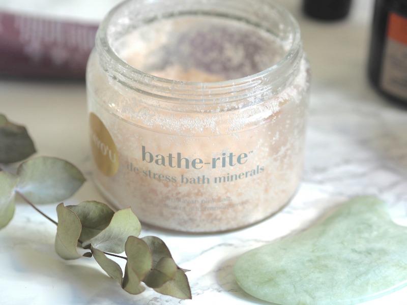the hayo'u method bathe rite bath minerals himalyan pink salt, lotus flower, frankincense