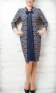 model Shirt Pencil Dress lengan Panjang wanita