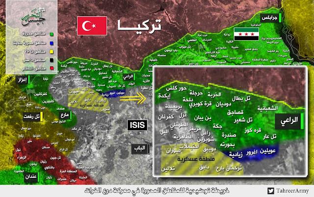 fsa perisai eufrat zona militer aleppo