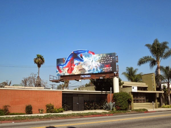 Amazing Spiderman 2 Electro billboard