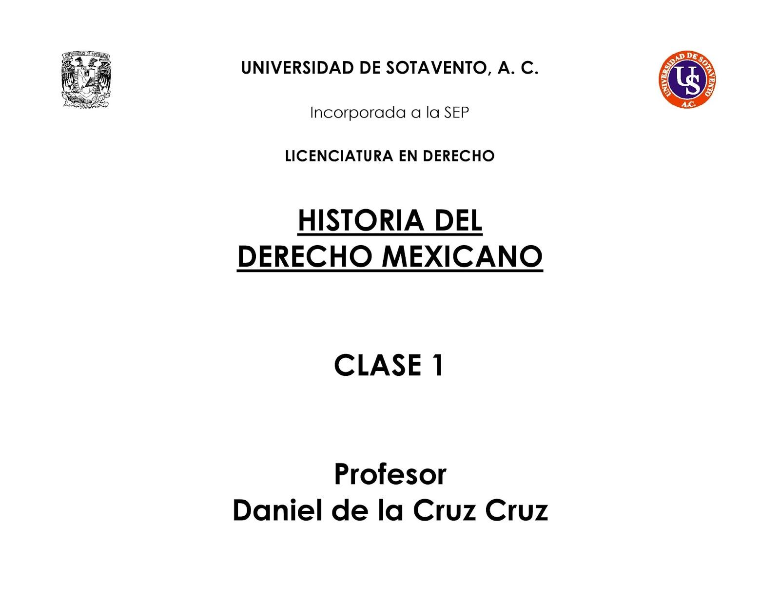 Clases De Derecho Clase 1 Unidades I Y Ii Us