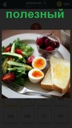 полезный завтрак приготовлен на тарелке 800 слов 2 уровень