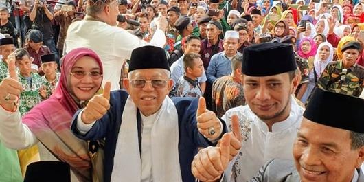 Kampanye di Bengkulu, Ma'ruf Tegaskan Pilpres Tak Seperti Perang Badar