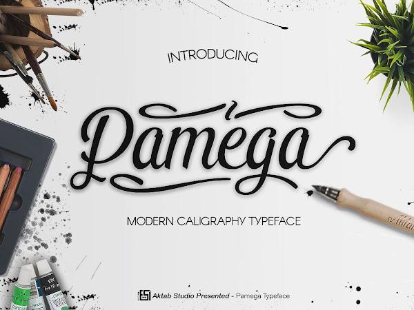 Download Pamega Script Modern Caligraphy Free