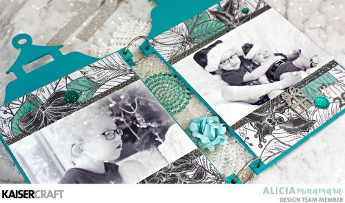 How to Make a Kaisercraft Christmas Mini Album by Alicia McNamara