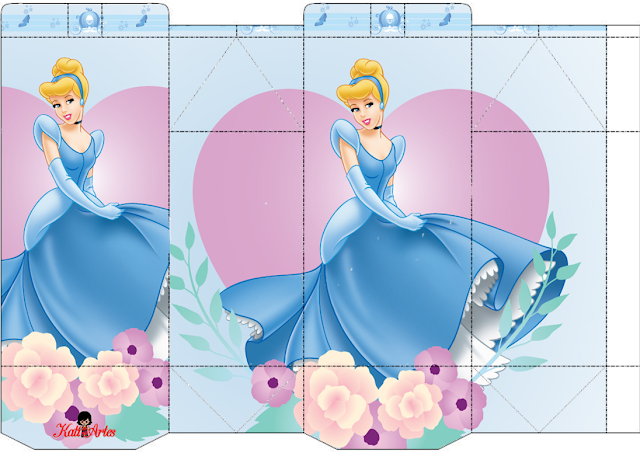 Cinderella Party: Free Printable Boxes.
