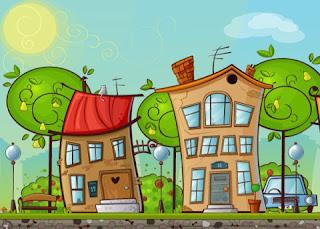 gambar perumahan kartun