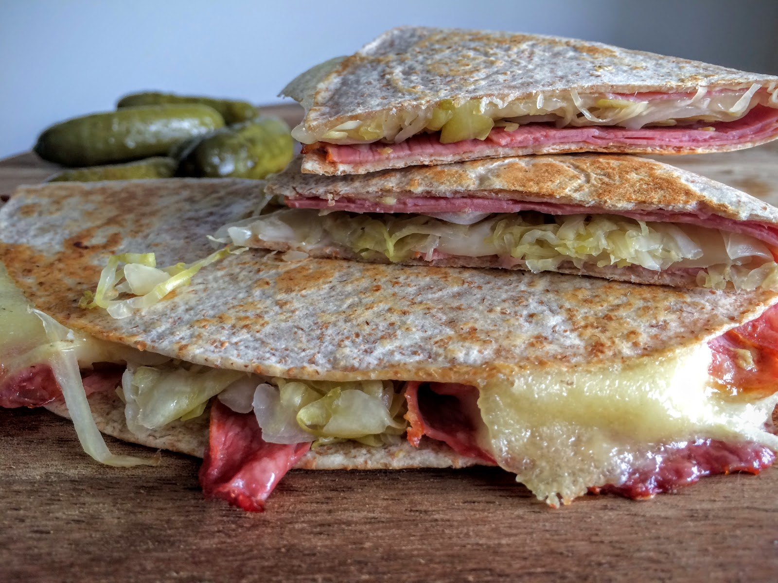 Reuben Quesadillas - Simple Ingredients