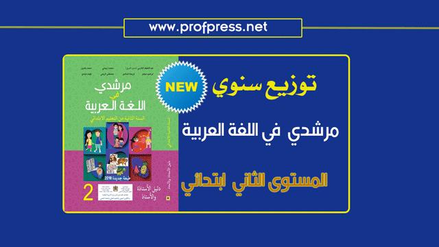 جديد توزيع سنوي لمرشدي في اللغة العربية المستوى الثاني