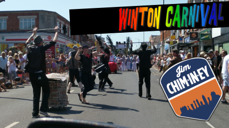 Winton Carnival - Jim Chim-in-ey Chimney Sweep Bournemouth 05a