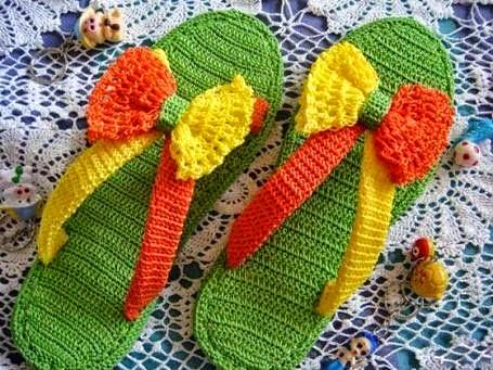 Calzado de playa al crochet