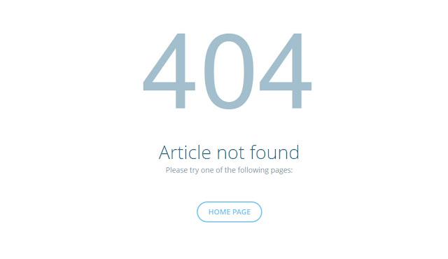 2 style trang lỗi 404 đẹp và chất cho Blogger