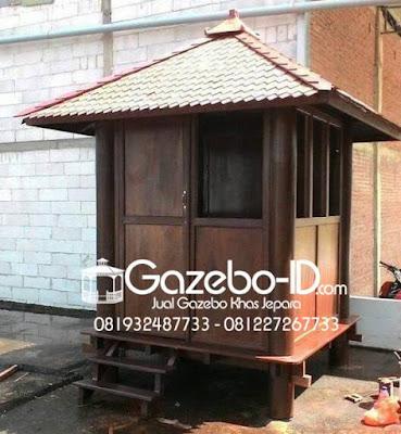 Gazebo Kayu Pos Keamanan