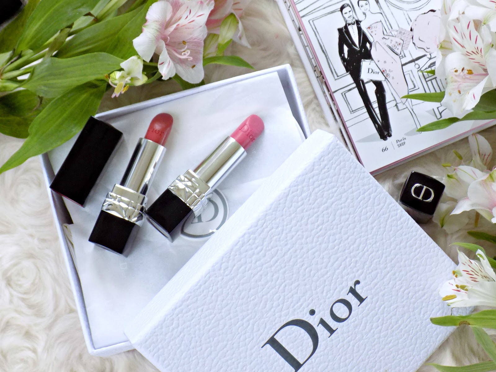 Dior Rouge Couture Colour shade 060 Premiere, Dior Rouge Couture Colour shade 458 Paris
