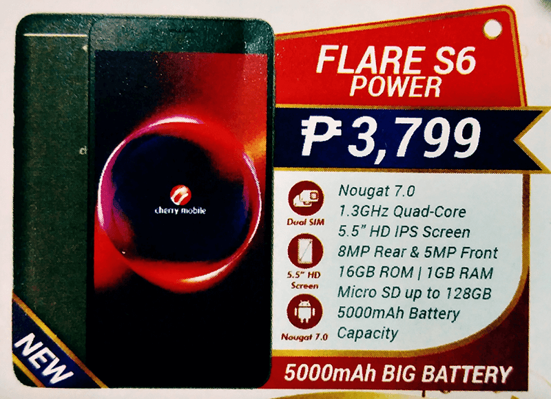 Cherry Mobile Flare S6 Power