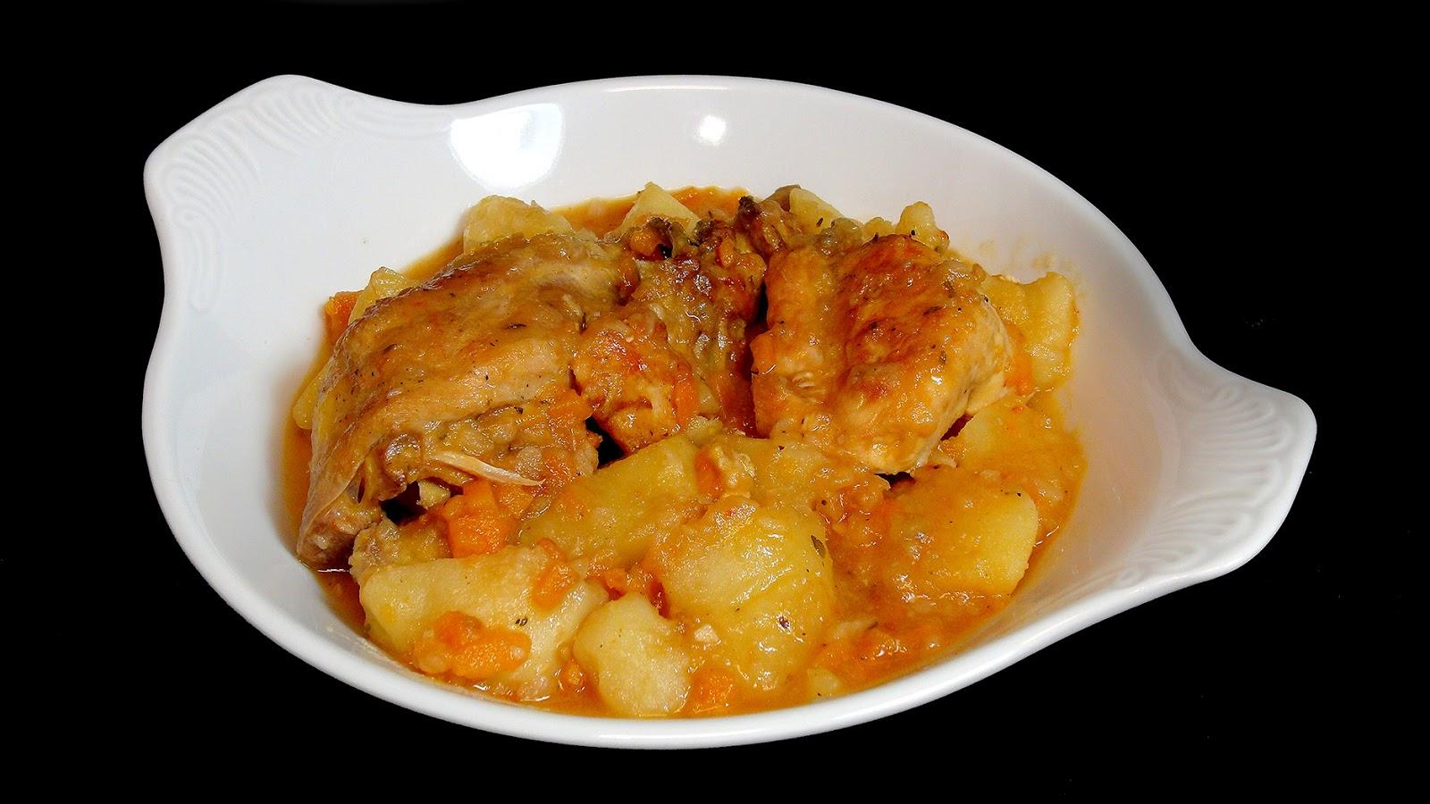Cocinar para los amigos pollo guisado con patatas for Cocinar repollo con patatas