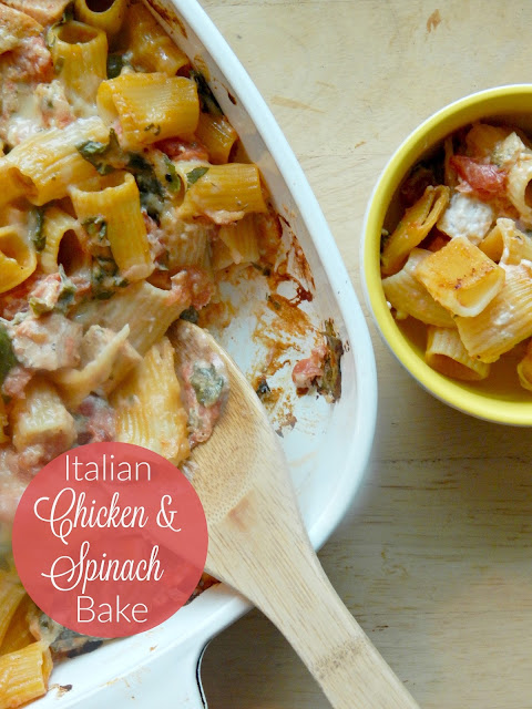 italian chicken and spinach bake (sweetandavoryfood.com)