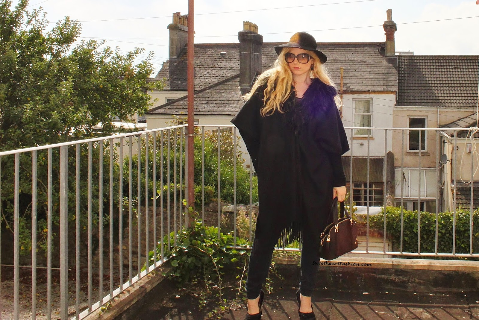 c21ea283d4b Hat - Topshop Sunglasses - Gucci Earrings - Gift Cape - Second-hand. Top -  Topshop Bag - Next Jeans - River Island Shoes - Accessorize