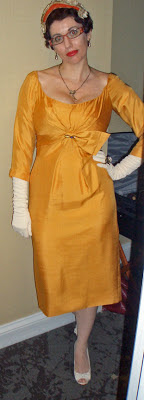 In Fashion Memoriam: 1950s Marigold Cocktail Dress by Gail Carriger