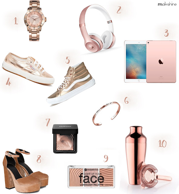 Rose golden gift guide