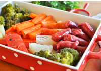 linguiça legumes forno