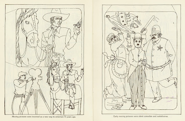 Vintage Western and Slapstick pages to color by David Wolfe