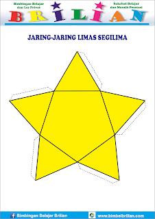 Gambar jaring-jaring bangun limas segilima