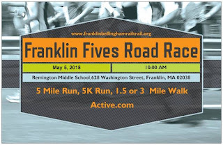 8th Annual Franklin and Bellingham Fives Road Race - May 5