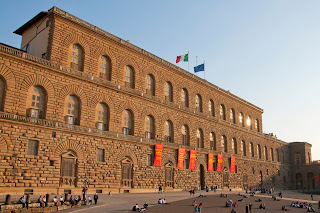 The Palazzo Pitti was originally the home of the banker Luca Pitti in an effort to outshine the Medici