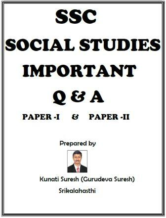 SSC Social studies Important questions and answers with