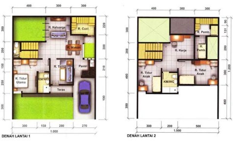 gambar rumah sederhana 3 kamar tidur minimalis 2 kamar