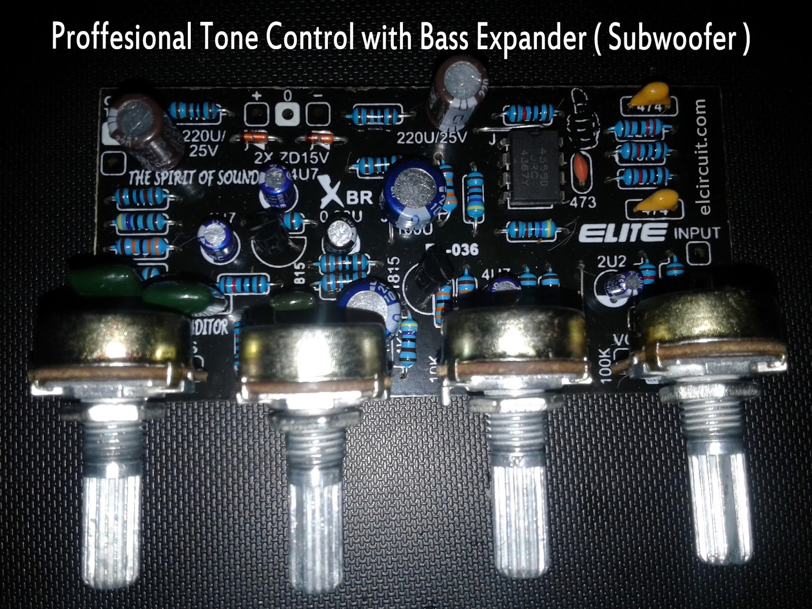 Professional Tone Control Mono Bass Expander and Subwoofer ...