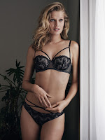 H&M Lingerie Fall/Winter Latest Campaign featuring Toni Garrn