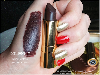 DILEMMA swatches diva crime goldust collection Nabla cosmetics