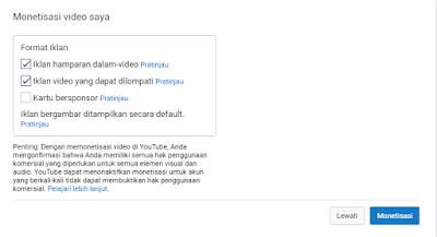 Cara Monestasi uang di youtube