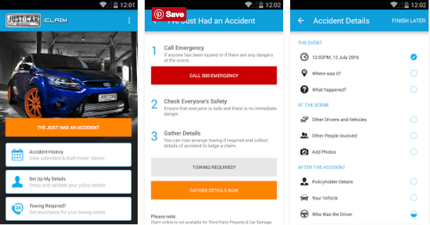 Just Car Insurance iClaim App