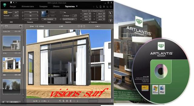 Télécharger Artlantis Studio 6 Crack & Keygen avec VISIONS SURF