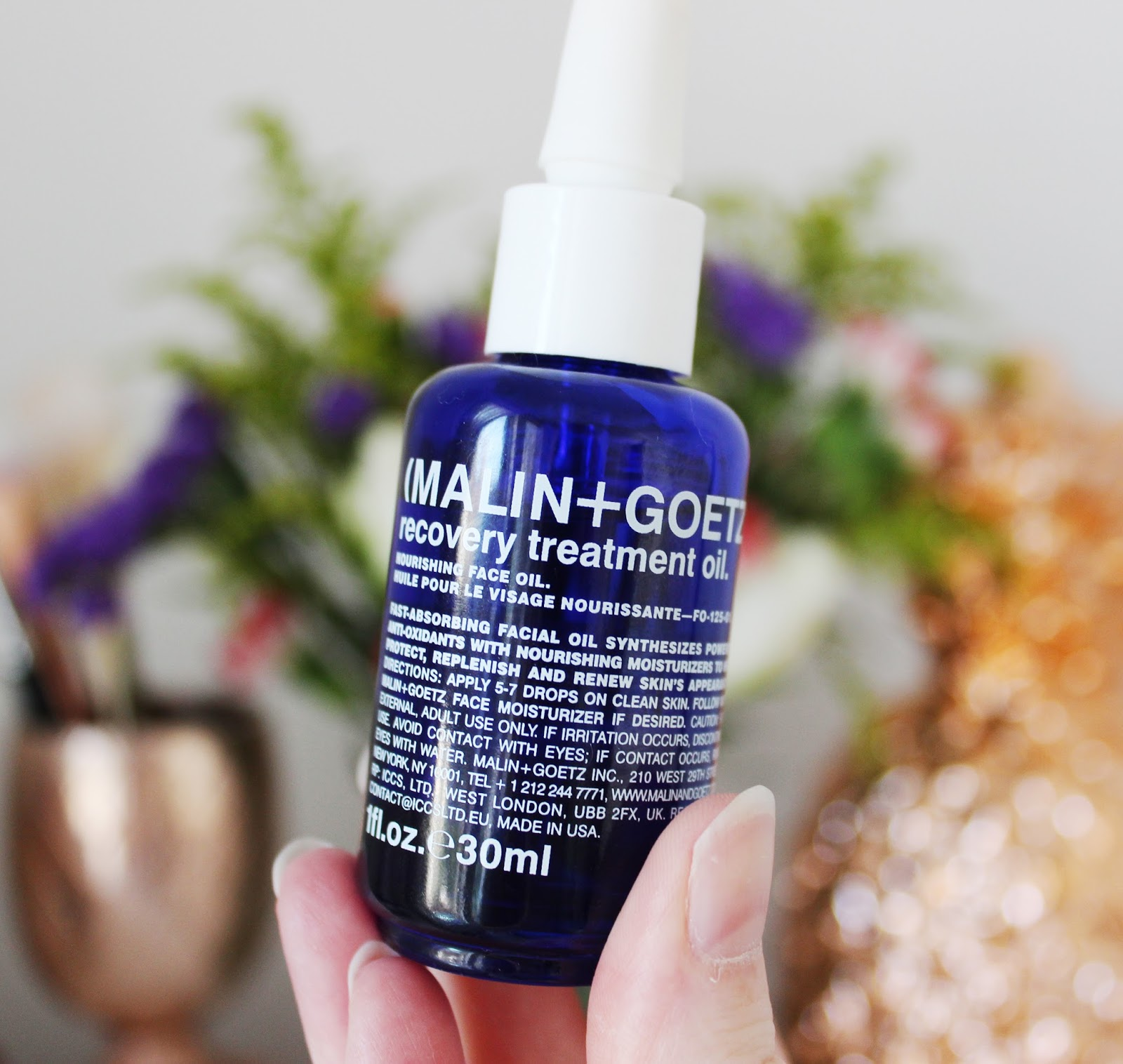 night time skincare treats - Malin + Goetz Recovery Oil