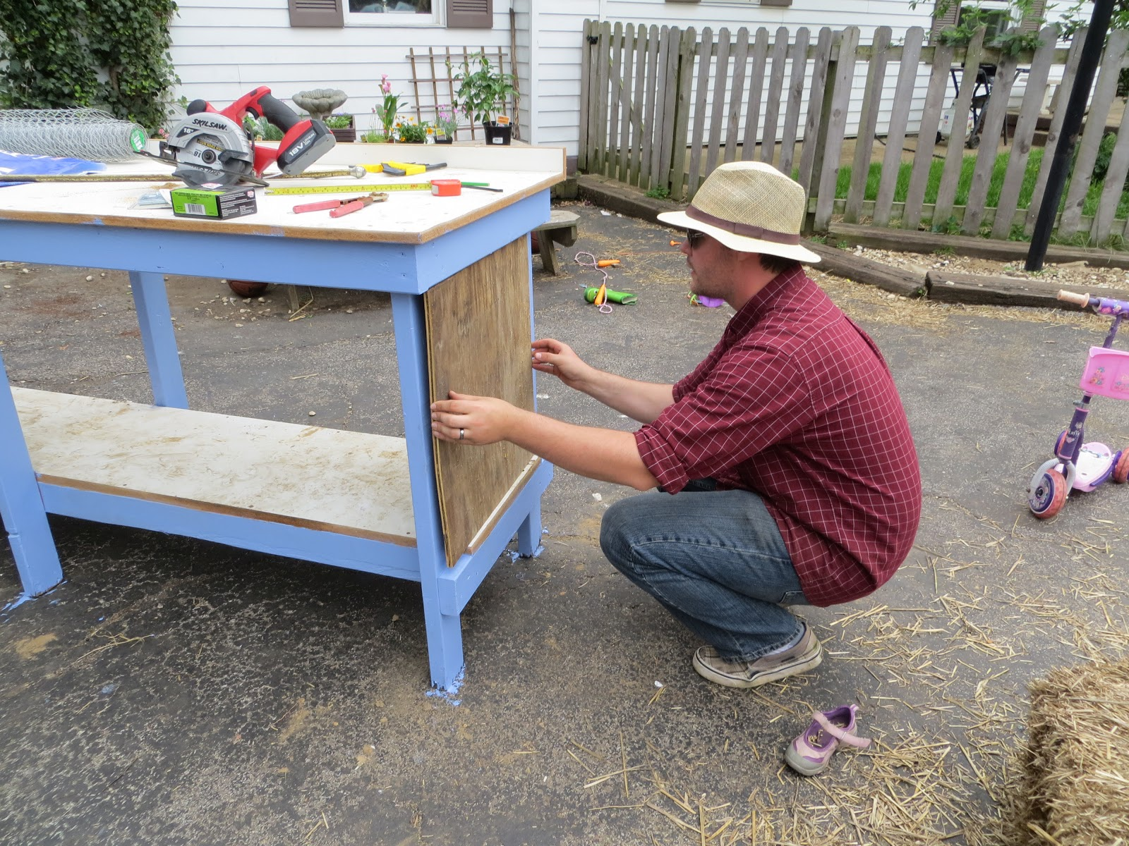Life With Nine Kids: Repurposing A Workbench Into A