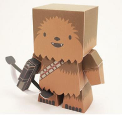 papermau star wars chewbacca the loyal wookie paper