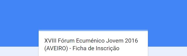XVIII FEJ 2016 - Ficha Inscrição