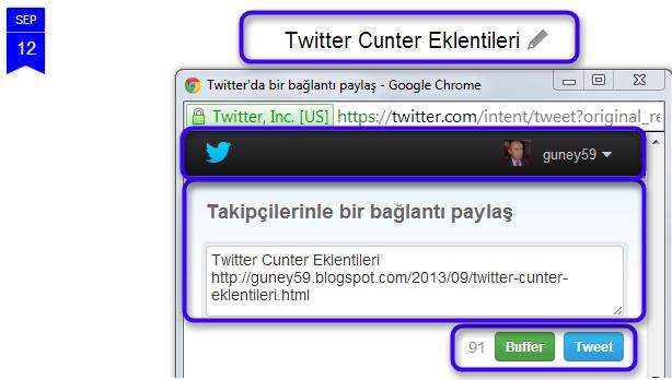 Twitter ve Buffer Yazı