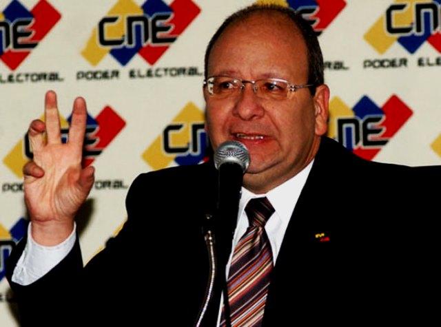 El exrector del Consejo Nacional Electoral, Vicente Díaz